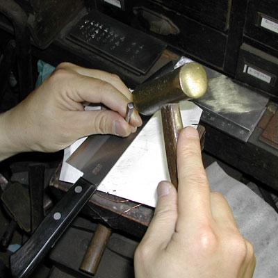 包丁の銘切(道具:たがね)